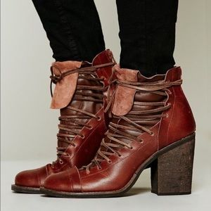Free People x Farlyrobin Lucas Lace Up Boot NWOB